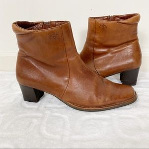 PIKOLINOS Soft Aged Brown Leather Western Booties